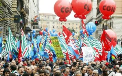 Manifestazione unitaria sindacale contro riforma delle pensioni
